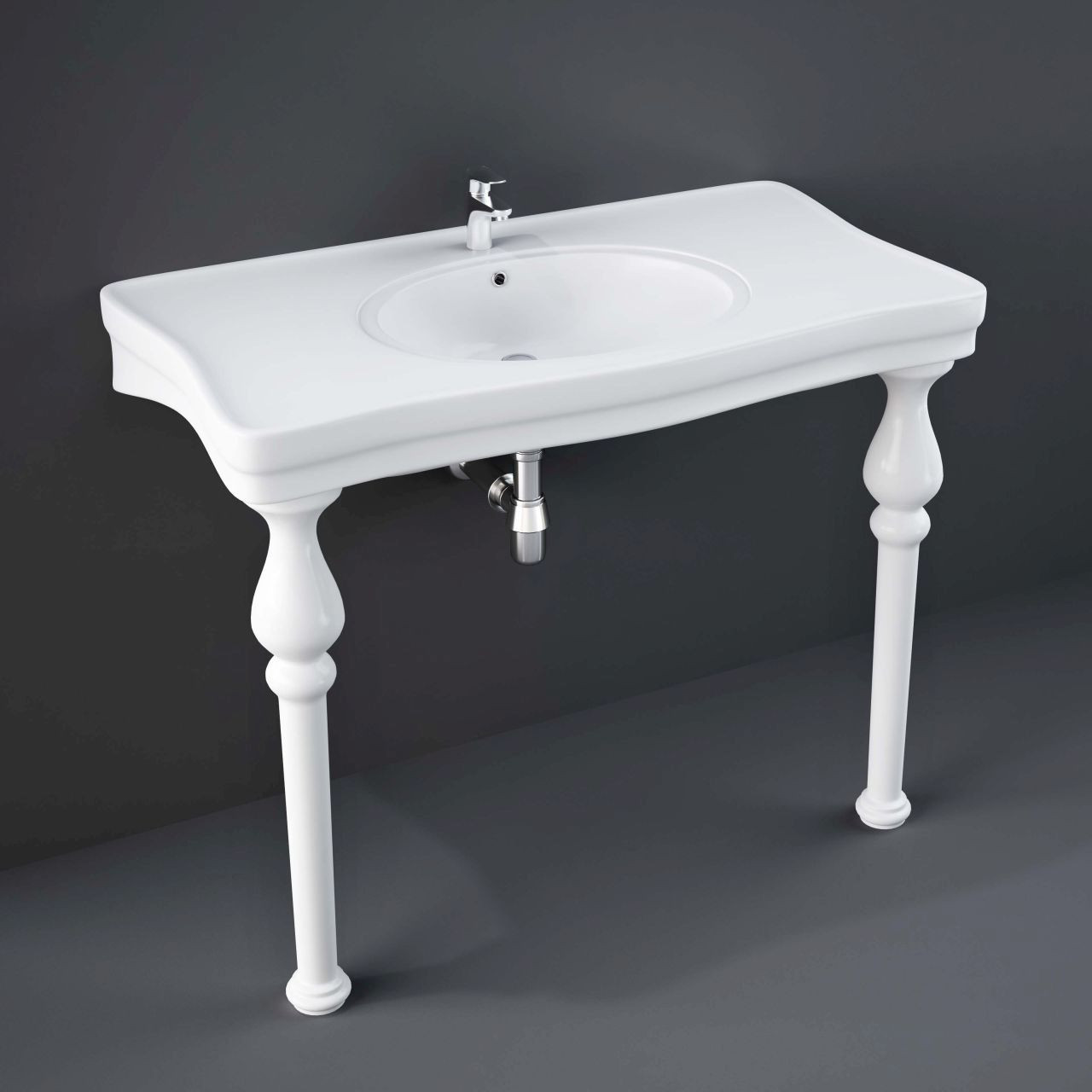 RAK Console Alexandra 1050mm Basin with 3 Tap Holes - CONLARG3
