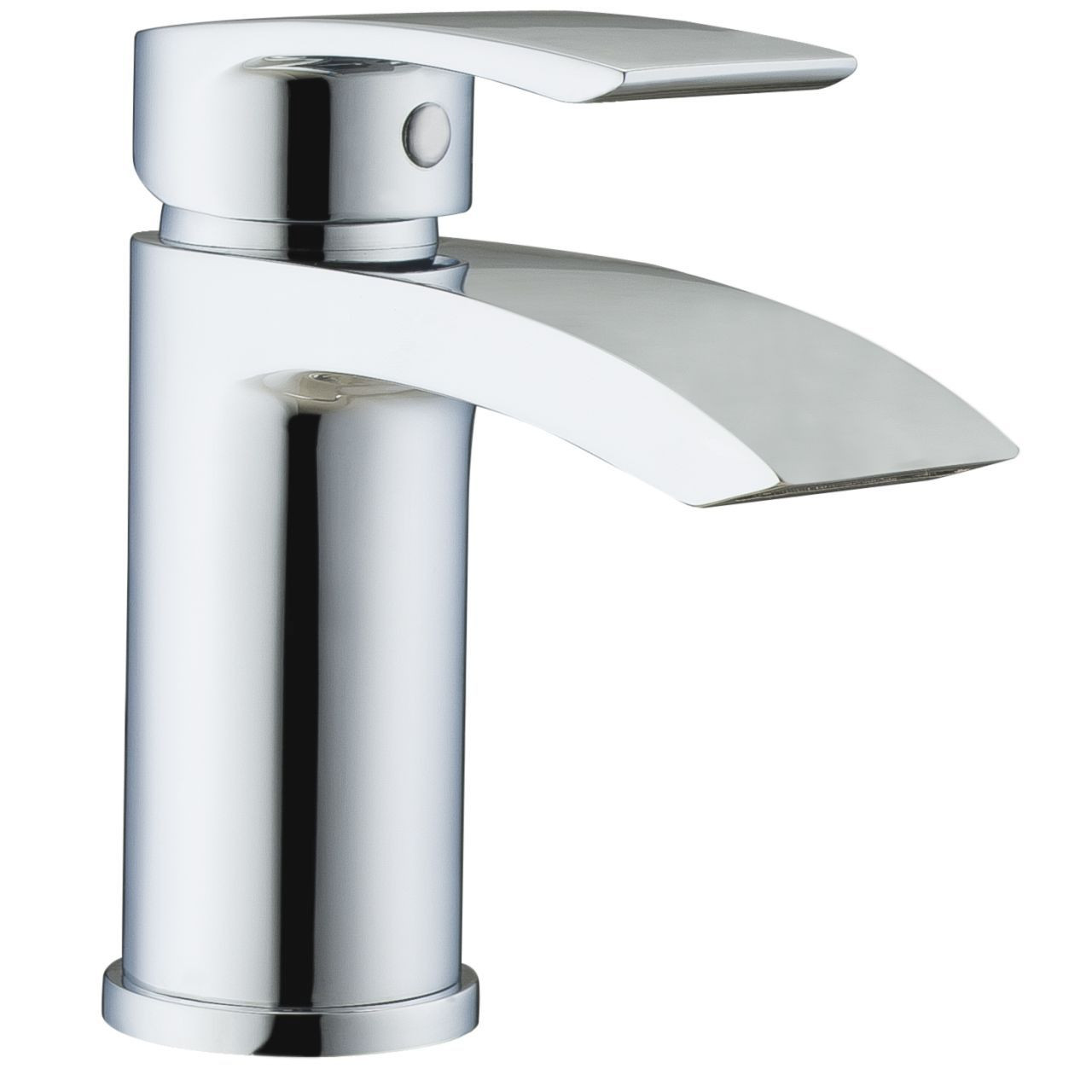 RAK Curve Mini Mono Basin Mixer Tap with Clicker Waste - RAKCRV3002