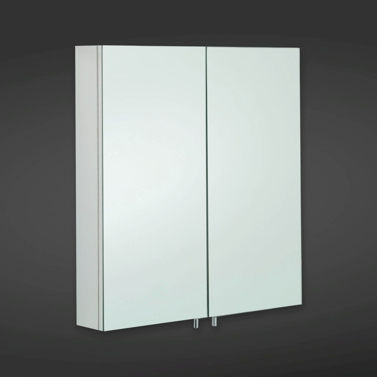 RAK Delta 600mm x 670mm x 120mm Double Stainless Steel Cabinet with Mirrored Doors - 12SL801