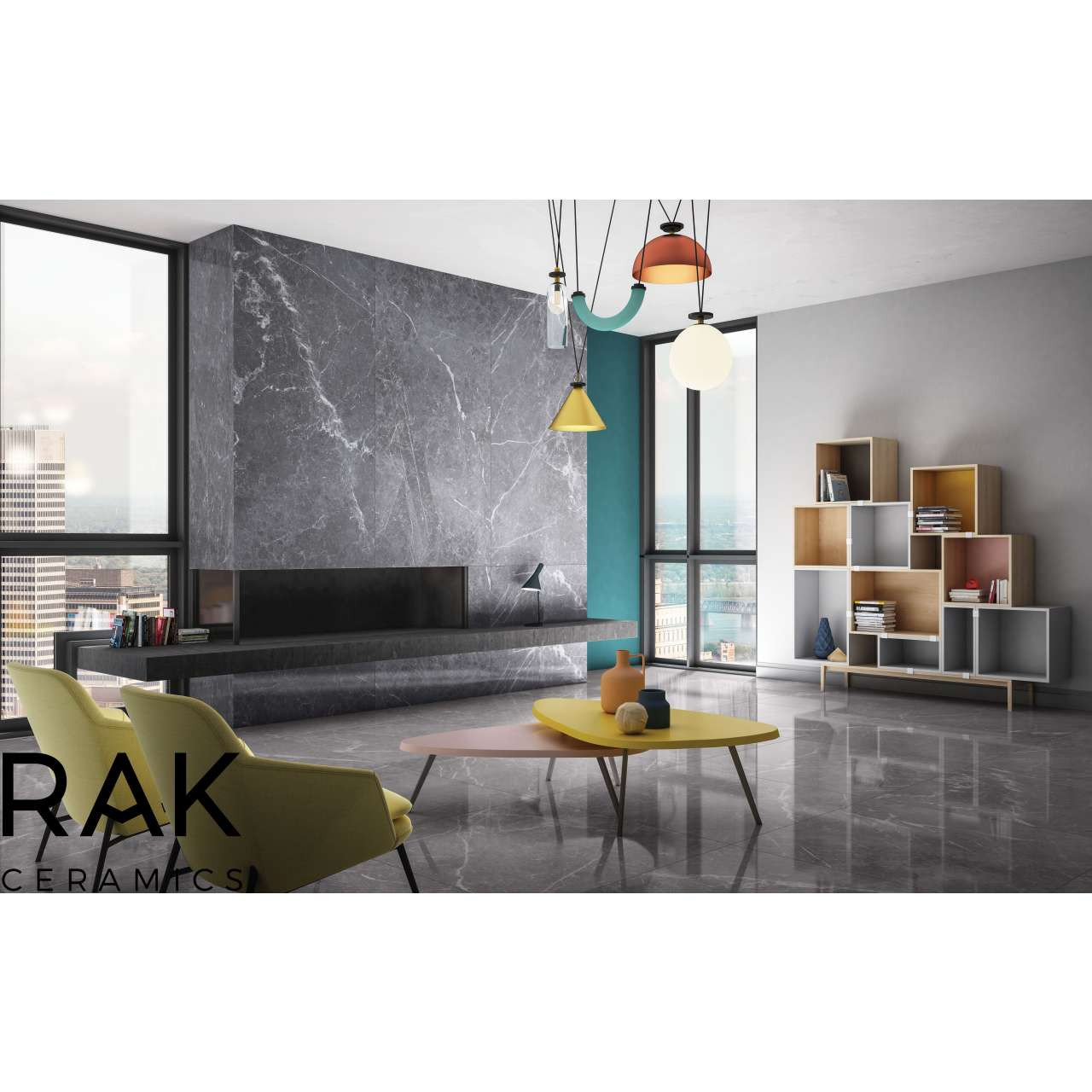 RAK Maximus Blu Del Belgio Clay Lappato 120cm x 260cm Porcelain Floor and Wall Tile - A62GZBLB-CL0.G0C6P