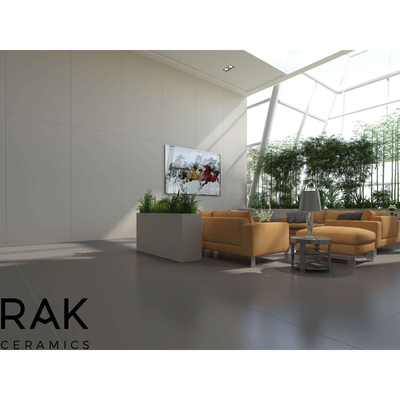 RAK Maximus Uni Light Grey Polished 135cm x 305cm Porcelain Floor and Wall Tile - A83GMAXI-LGY.X0C2P