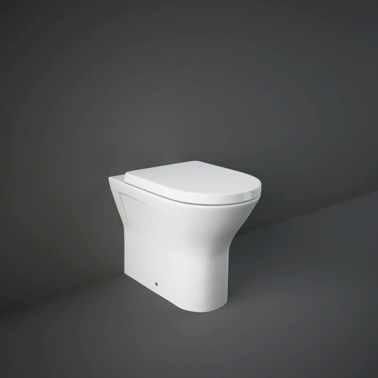 RAK Resort Back to Wall Toilet Pan with Sandwich Soft Close Seat - RSTBTWPAN/012