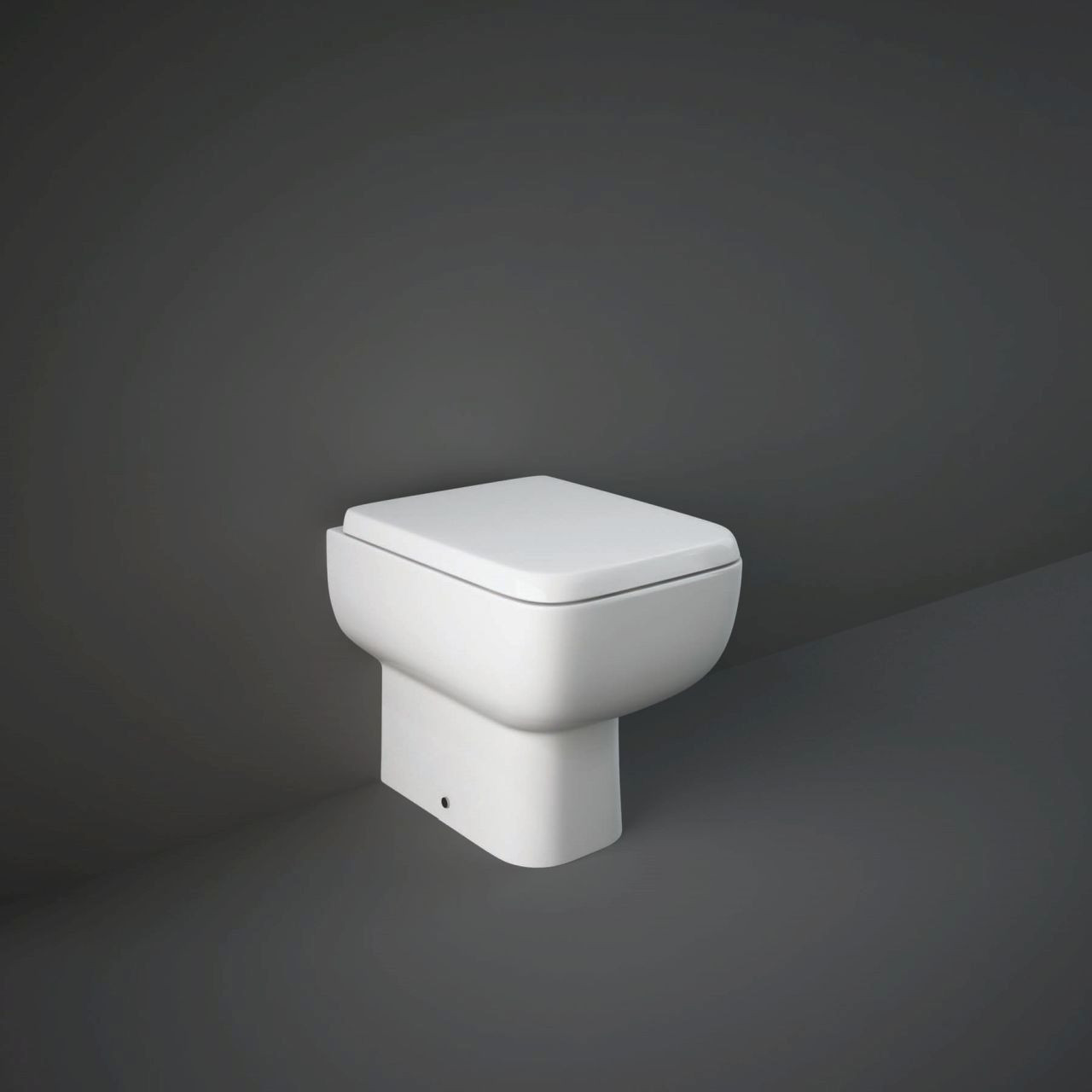 RAK Series 600 Back to Wall Toilet Pan with Slimline Wrap Over Soft Close Seat - S600BTWPAN/014