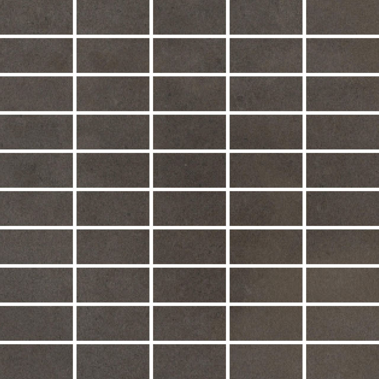 RAK Surface Dark Greige Matt 30cm x 30cm Sheet 2.7cm x 5.8cm Bricks Porcelain Mosaic Tile - AM-GZSUR-DGE.RT3/6