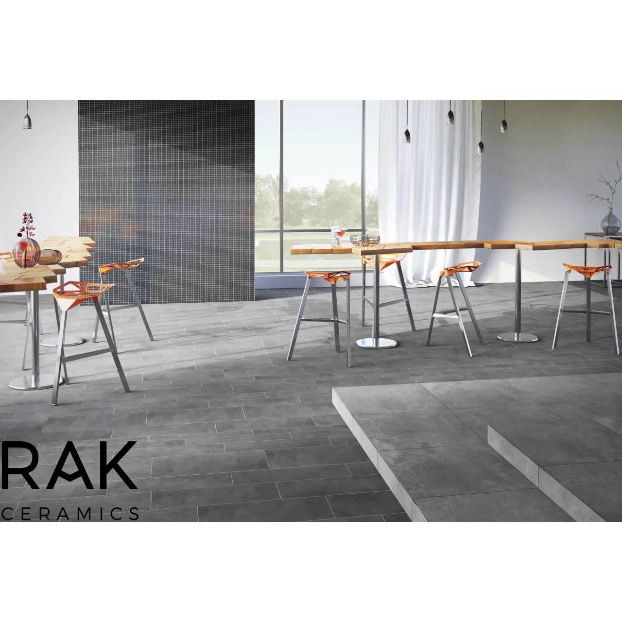 RAK Surface Off White Matt 30cm x 30cm Sheet Linear Bricks Porcelain Mosaic Tile - AM-GZSUR-OW.RT/BRK