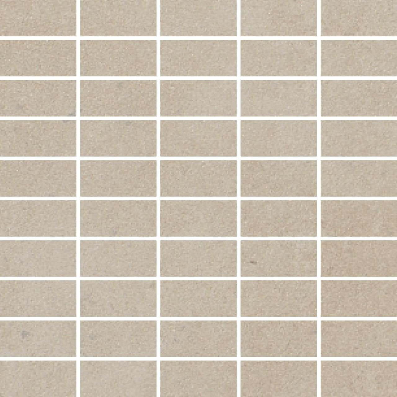 RAK Surface Sand Matt 30cm x 30cm Sheet 2.7cm x 5.8cm Bricks Porcelain Mosaic Tile - AM-GZSUR-SN.RT3/6
