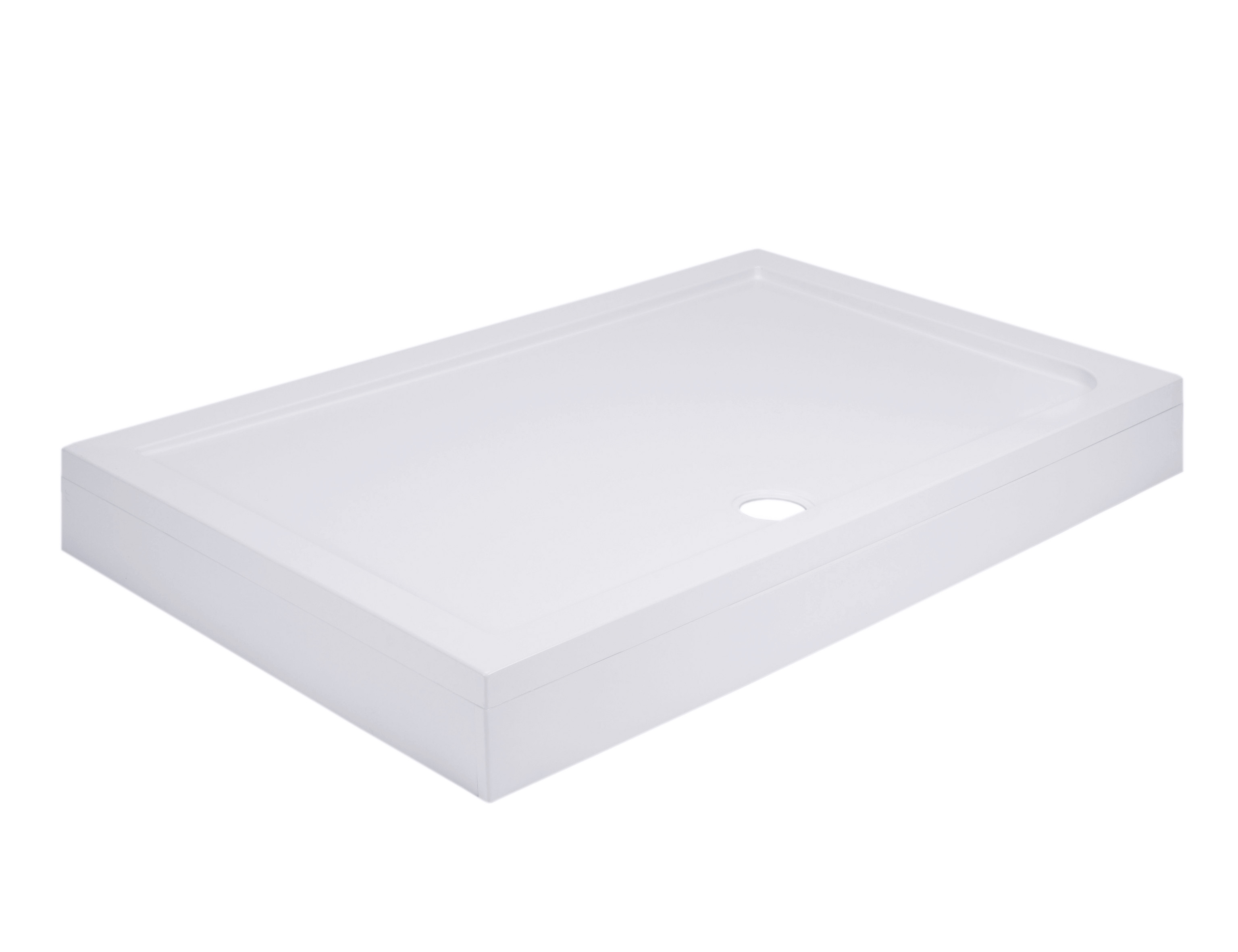 40mm Pearlstone 1600 x 700 Rectangular Shower Tray & Plinth