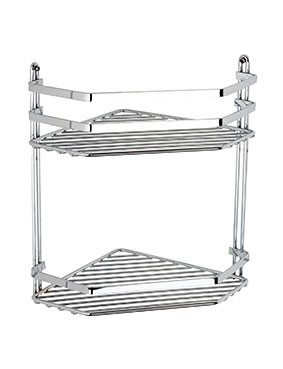 Selena Double Corner Shower Caddy