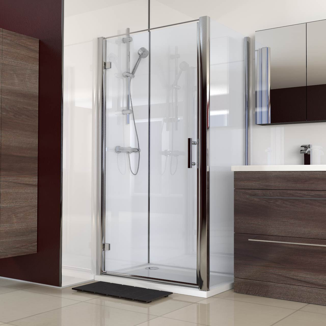 Series 6 1000mm x 700mm Hinged Door Shower Enclosure