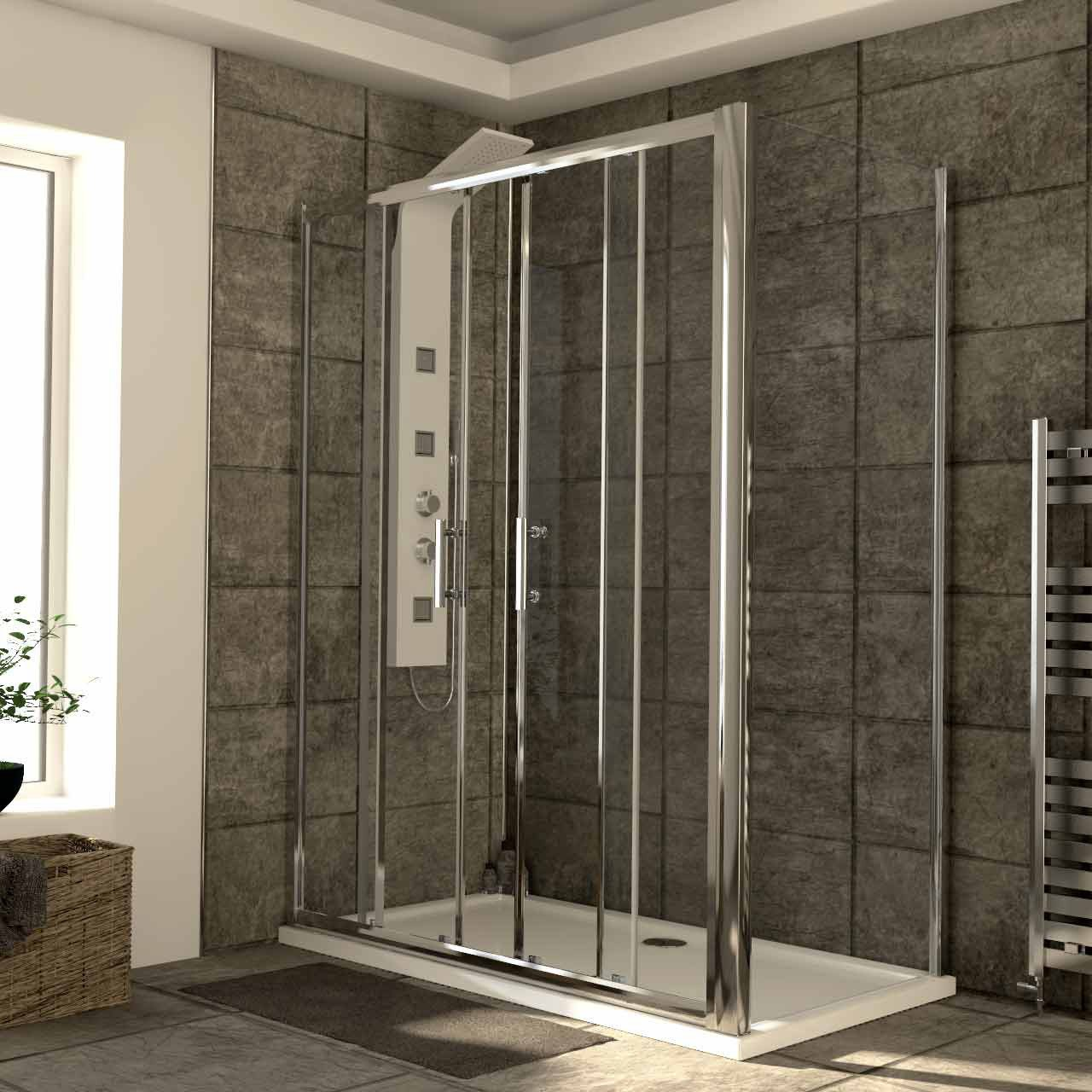 Series 6 1500mm x 800mm Double Sliding Door Shower Enclosure
