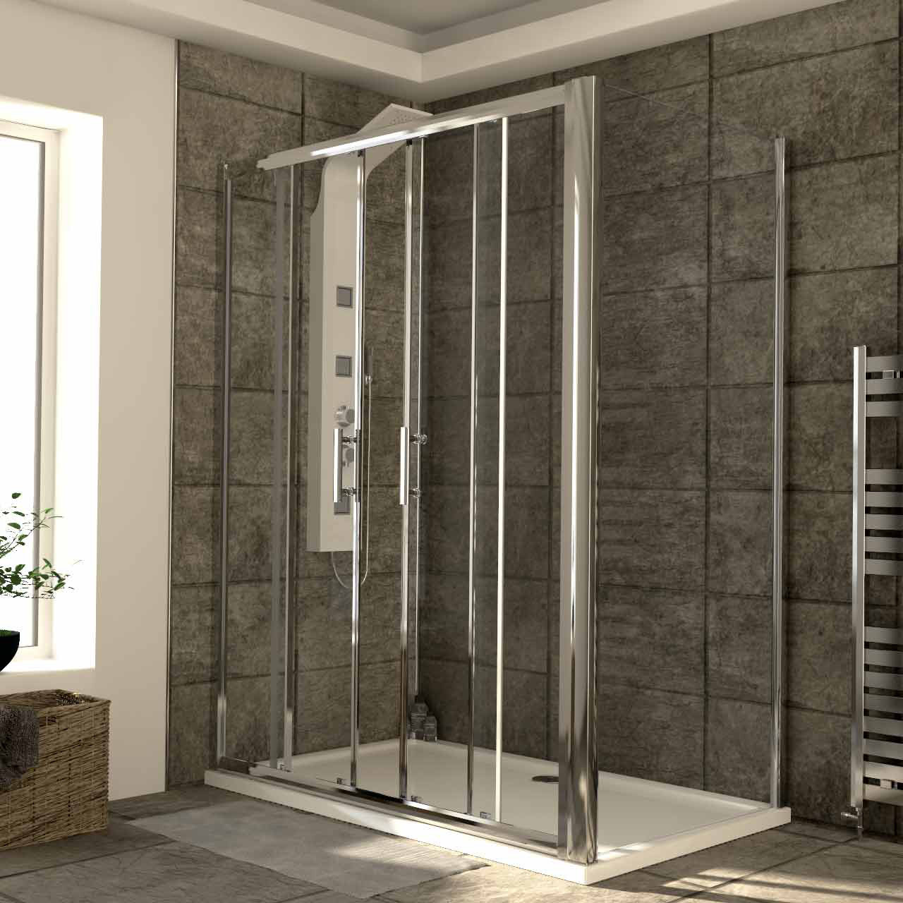 Series 6 1500mm x 900mm Double Sliding Door Shower Enclosure