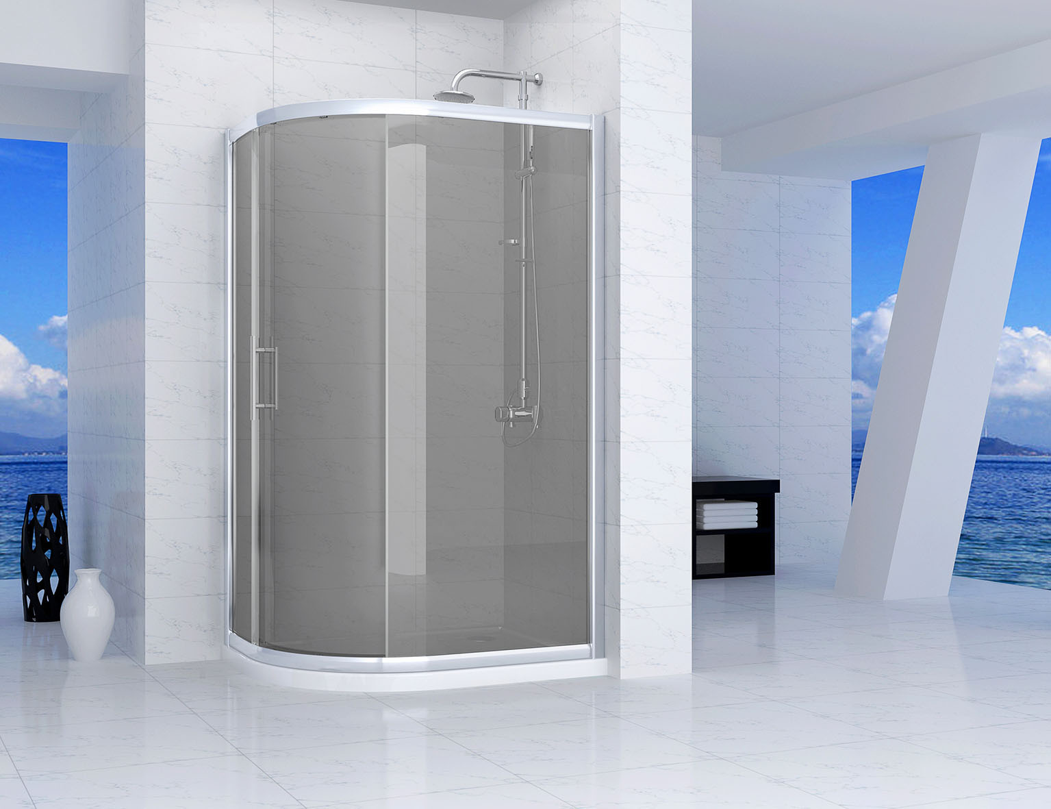Series 9 Tinted One Door Offset Quadrant Shower Enclosure 1200 x 900