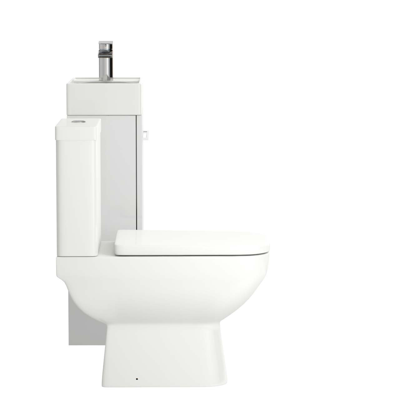 Solutions White Gloss 450mm Cloakroom Unit & Toilet Suite