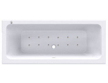 Square Centre Tap 12 Jet Easifit Spa Whirlpool Bath 1800x800mm
