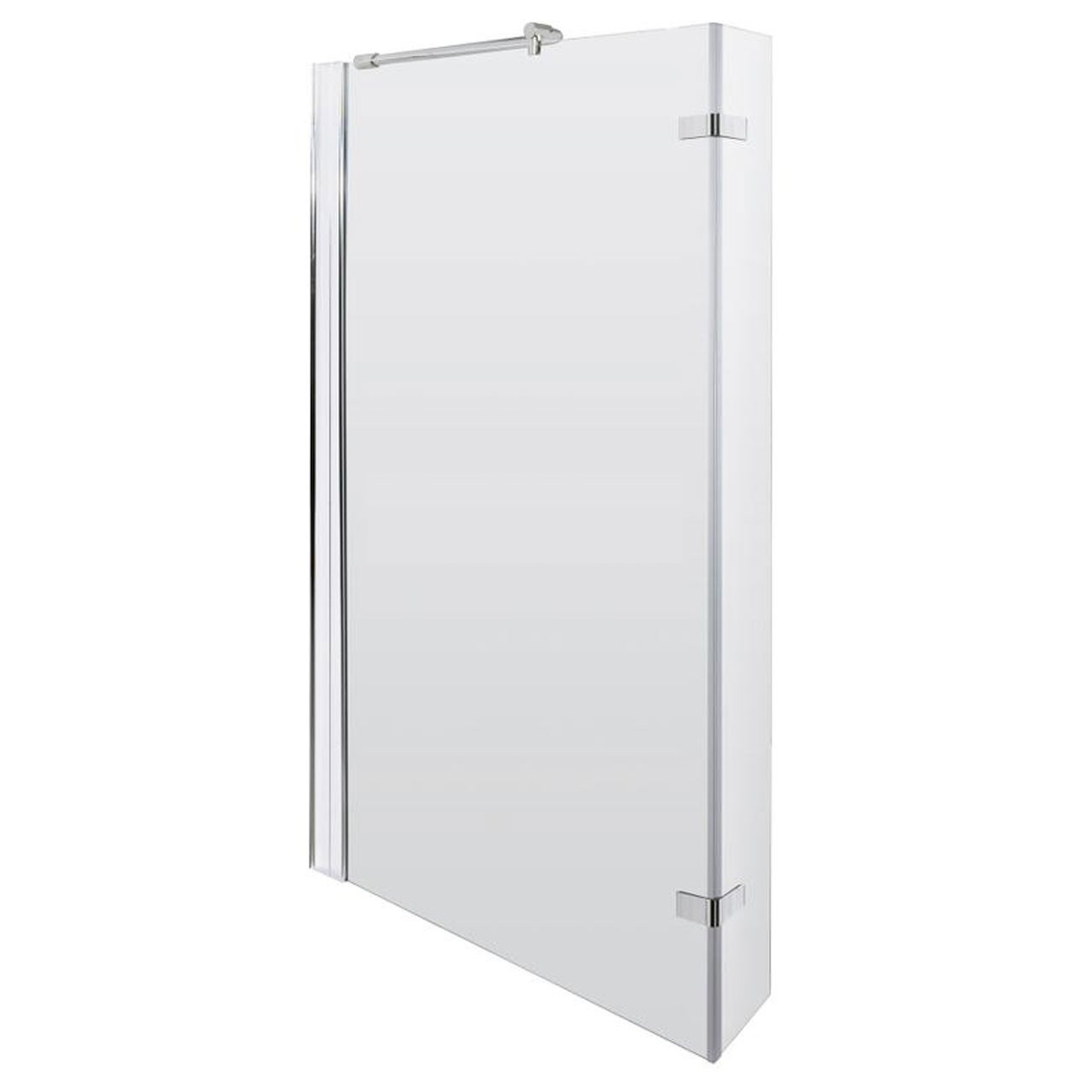 Square shower bath hinged screen