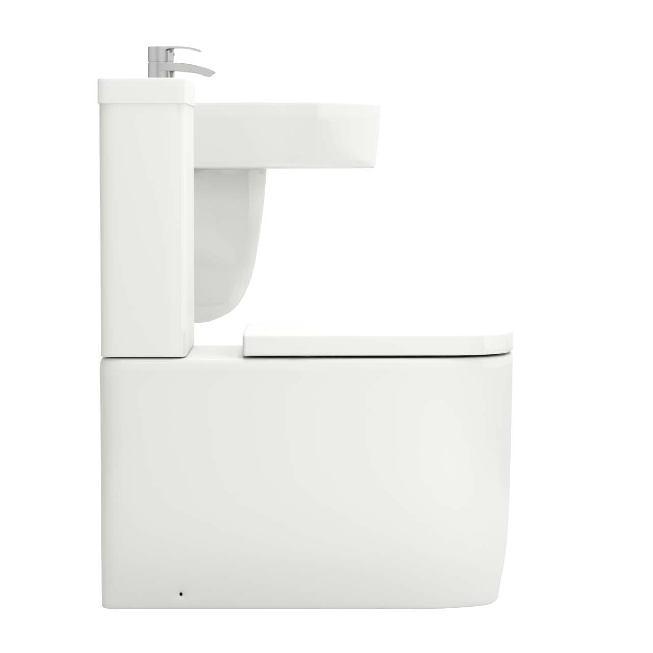 Stamford 550mm Semi Pedestal Basin & Toilet Suite