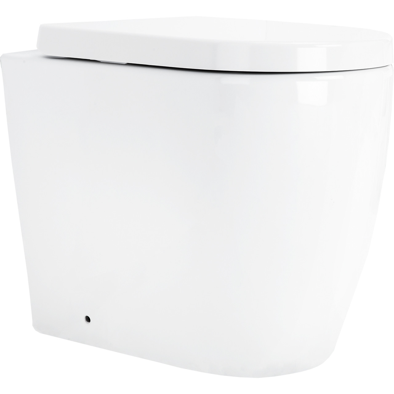 Stamford Back to Wall Toilet with Soft Close Seat Side