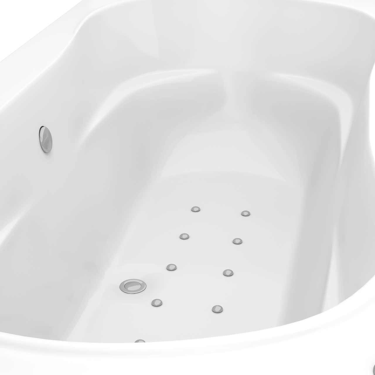 Strata Duo XL Centre Tap 12 Jet Easifit Spa Whirlpool Bath 1800x900mm