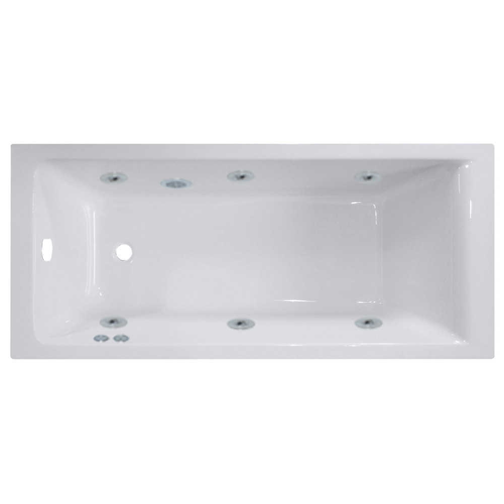 Summit End Tap 6 Jet Chrome Flat Jet Whirlpool Bath 1700x750