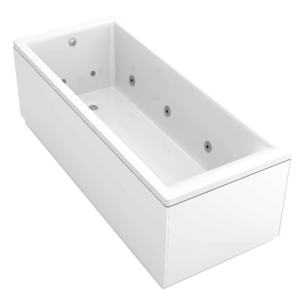 Summit End Tap 12 Jet Chrome Flat Jet Whirlpool Bath 1700x700