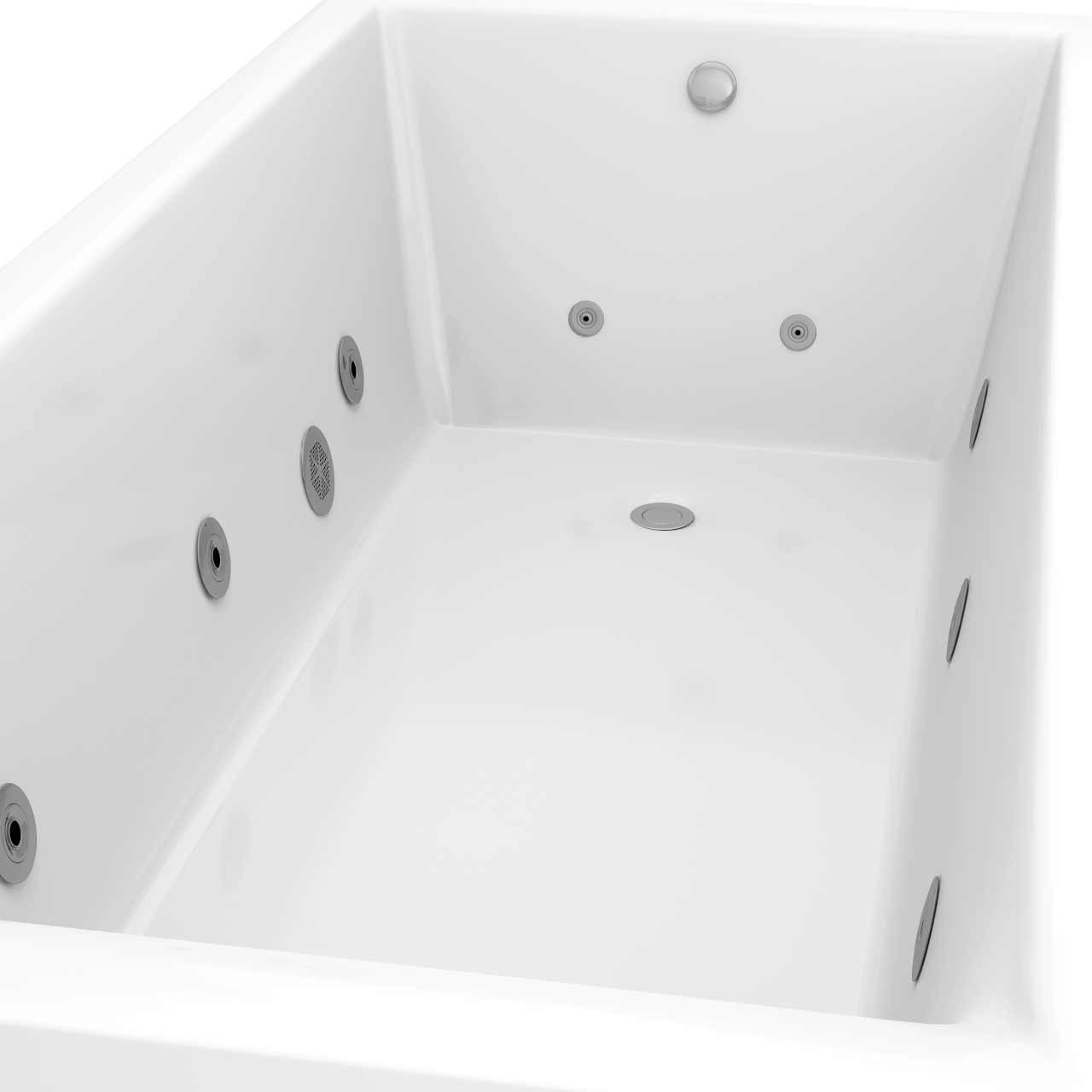 Summit End Tap 12 Jet Chrome Flat Jet Whirlpool Bath 1700x750