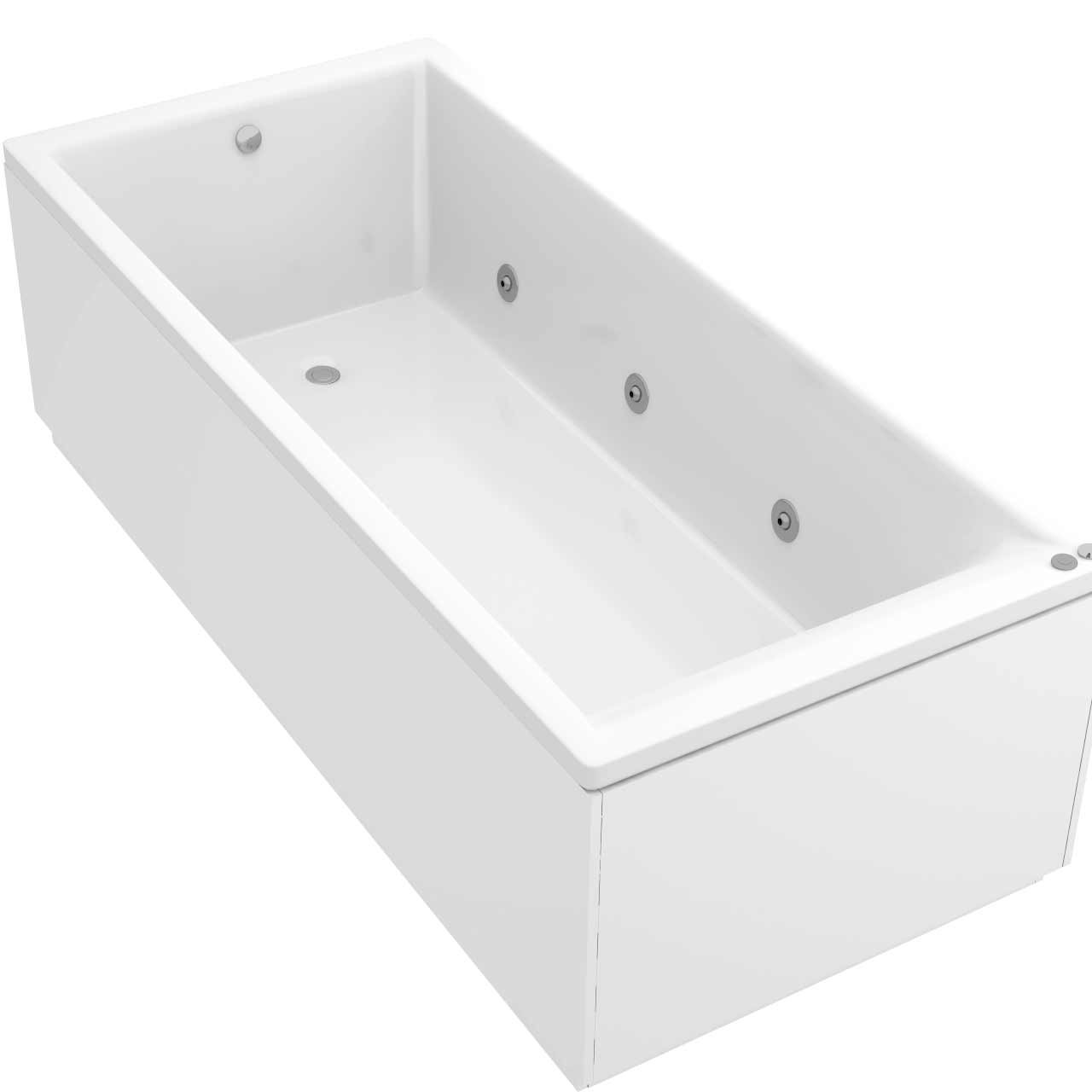 Summit End Tap 6 Jet Chrome V-Tec Whirlpool Bath 1800x800