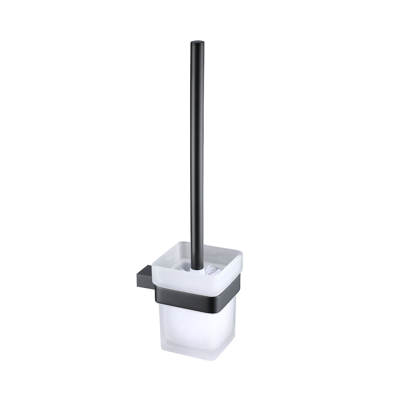 Taurus Black Wall Mounted Toilet Brush & Holder