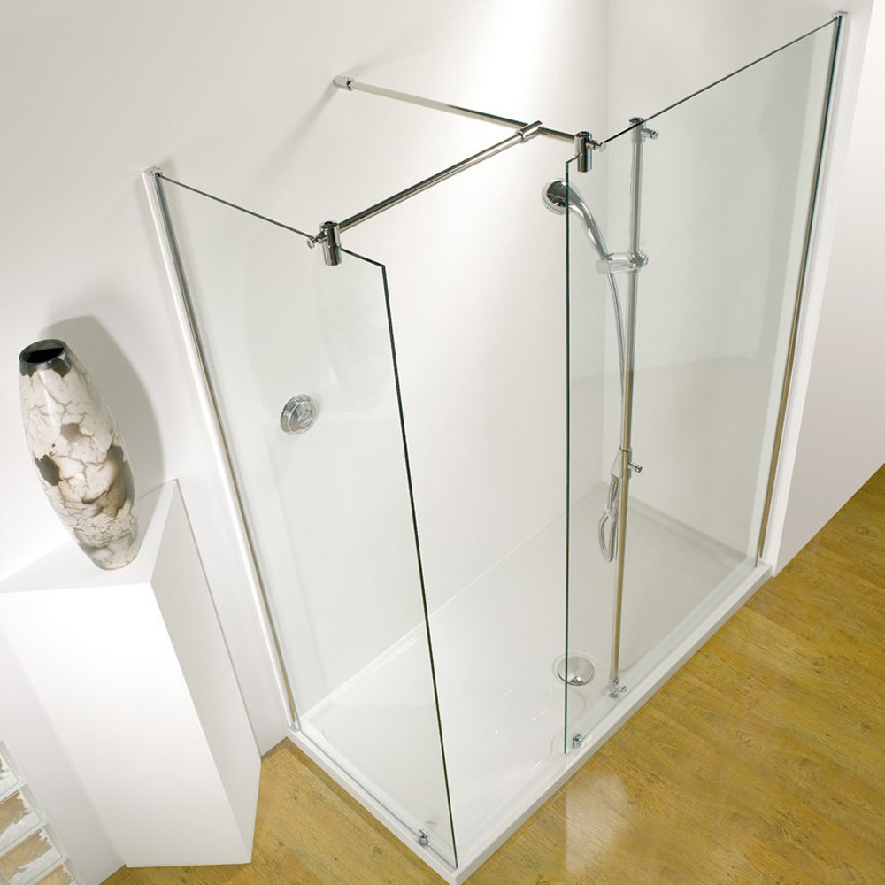 Kudos Ultimate 1 Flat Panel 1700 Corner Walk In Left Hand with Shower Tower