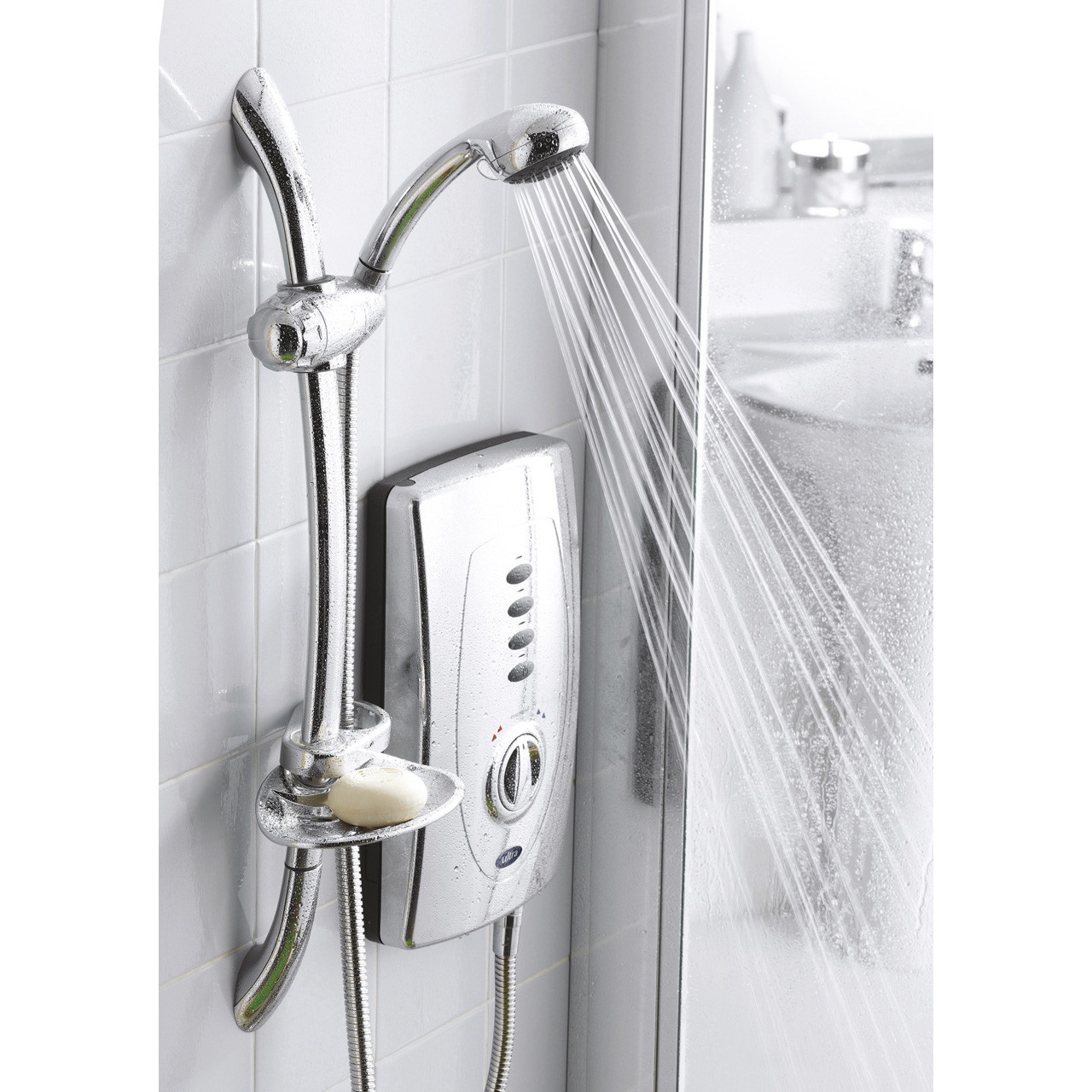 Ultra Chic 650 10.5Kw Chrome Electric Shower - AX311