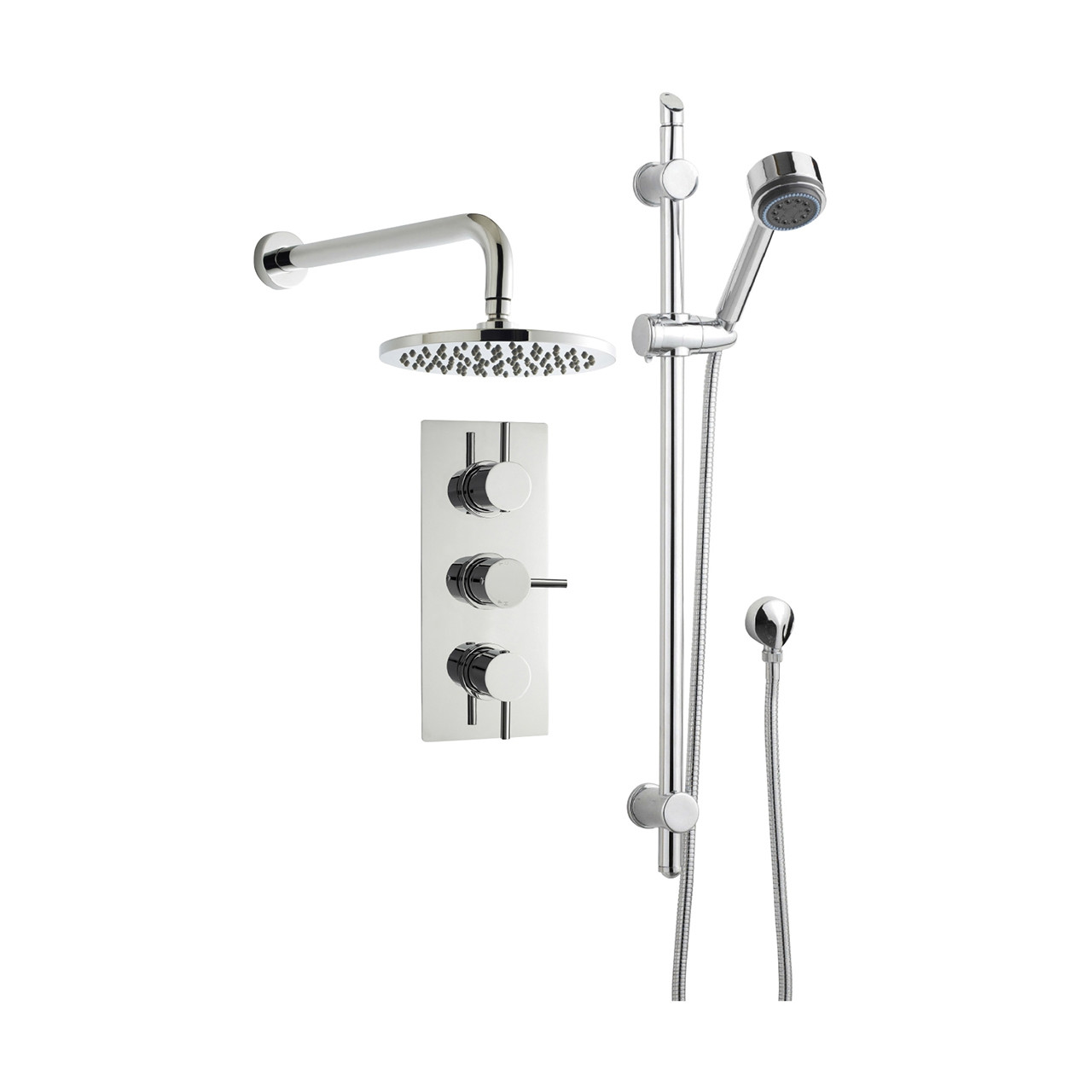 Ultra Chrome Triple Shower Bundle Option 3 - PBS016