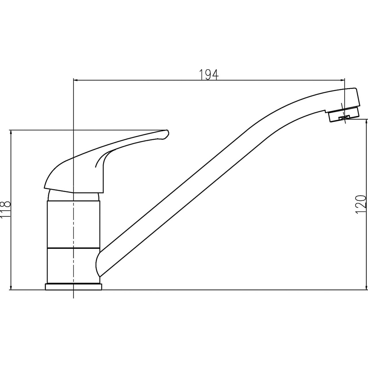 Ultra D-Type Sink Mixer with Swivel Spout - DTY306