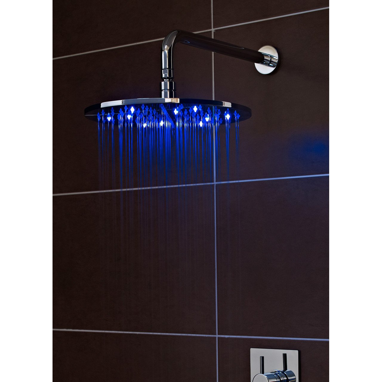 Ultra LED 300mm Round Fixed Shower Head - STY071