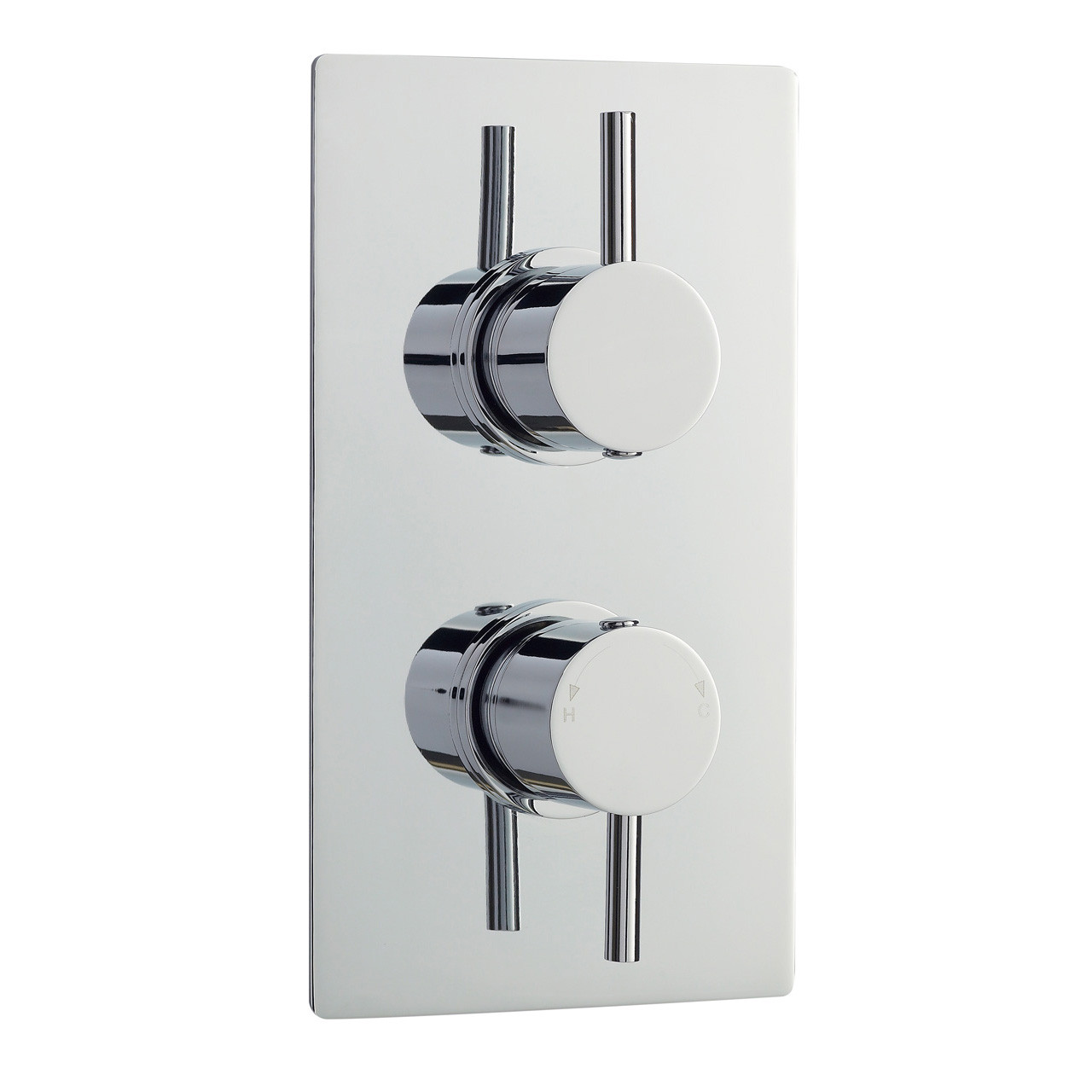 Ultra Quest Twin Valve with Built In Diverter Rectangular Plate - QUEV52