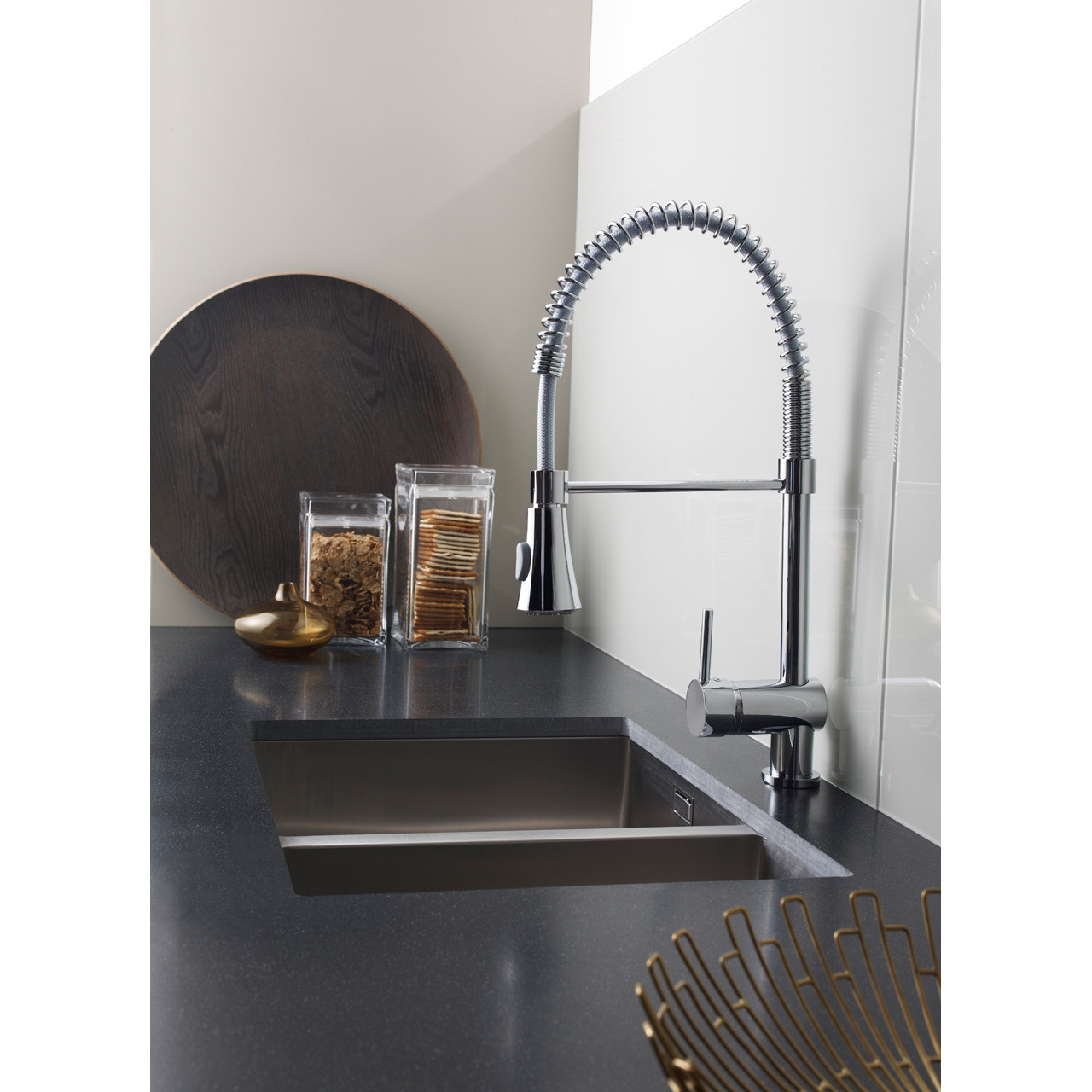 Ultra Side Action Pull Out Rinser Kitchen Tap - KC314