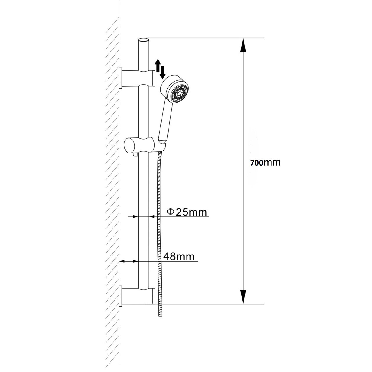 Ultra Slider Rail Kit with Brackets and Handset - A3040