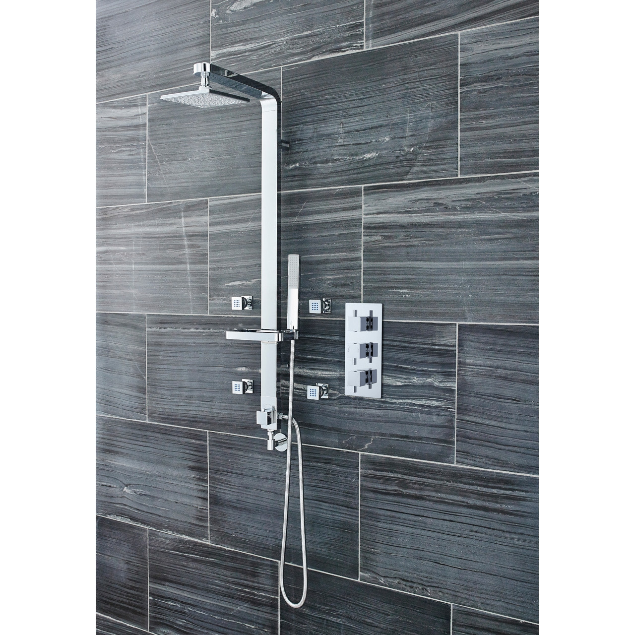 Ultra Triple Concealed Thermostatic Shower Valve - JTY303