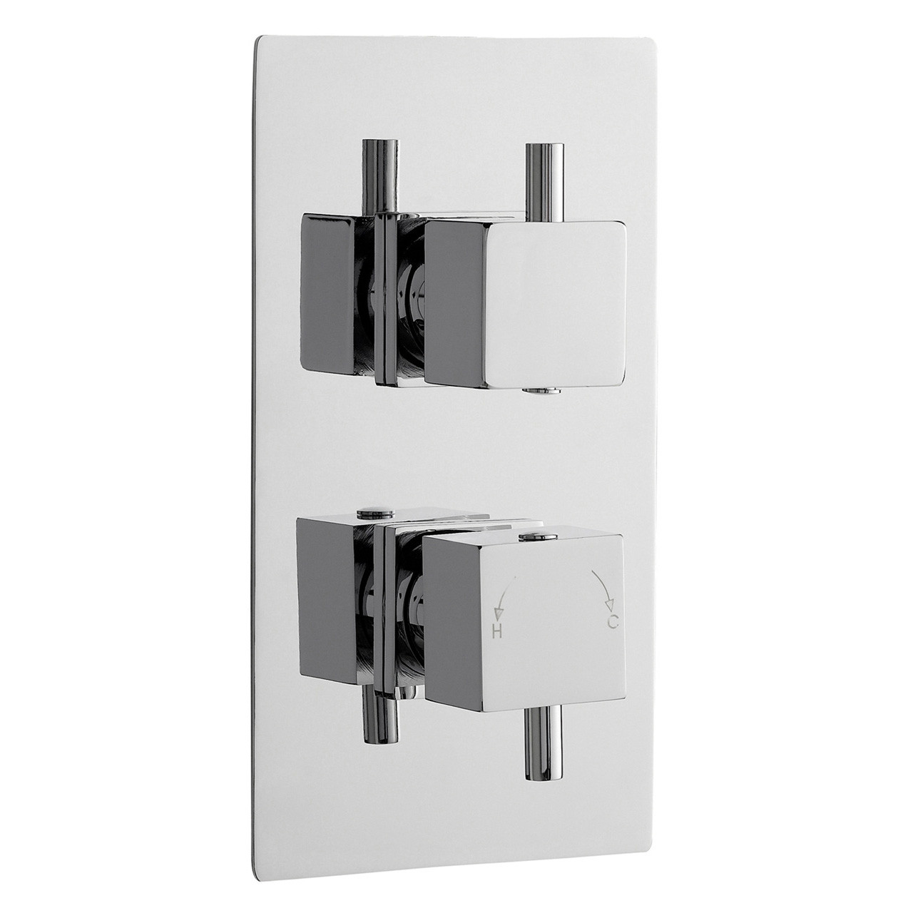 Nuie Volt Twin Concealed Thermostatic Shower Valve - JTY301