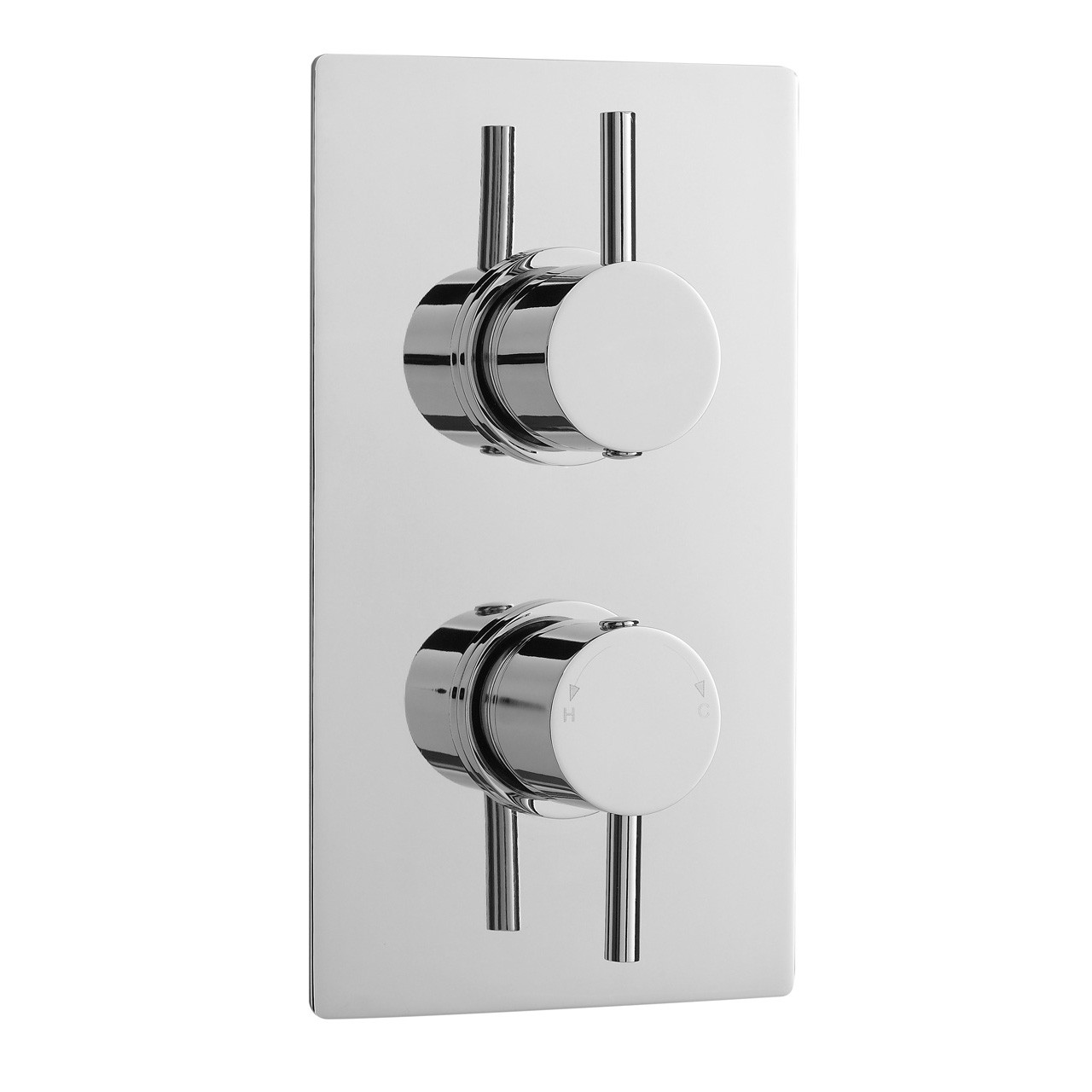 Ultra Twin Concealed Thermostatic Shower Valve - QUEV51
