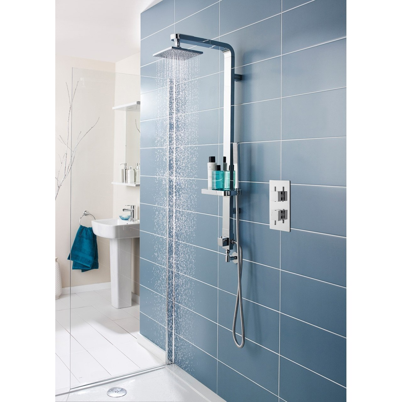Nuie Volt Twin Concealed Thermostatic Shower Valve with Diverter - JTY302