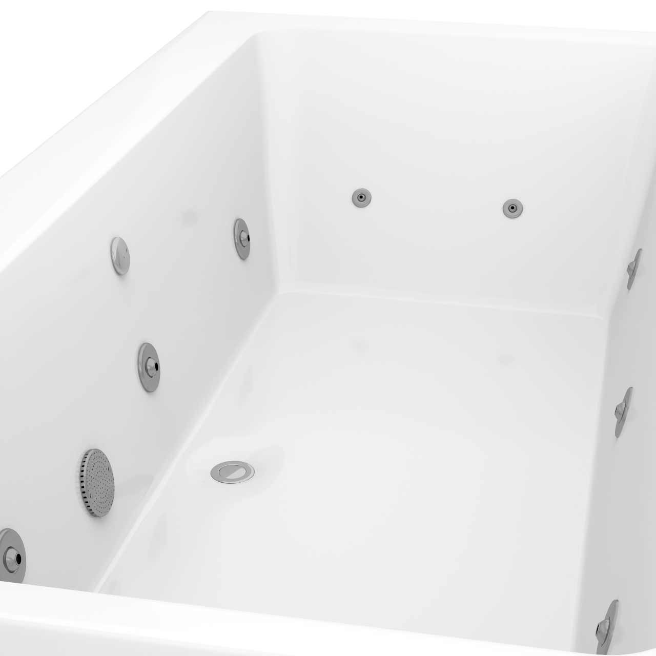 Verna Centre Tap 12 Jet Chrome V-Tec Whirlpool Bath 1800x900mm
