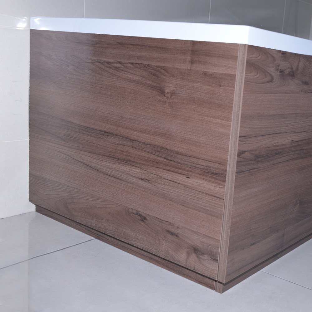 Napoli Walnut 800mm End Bath Panel