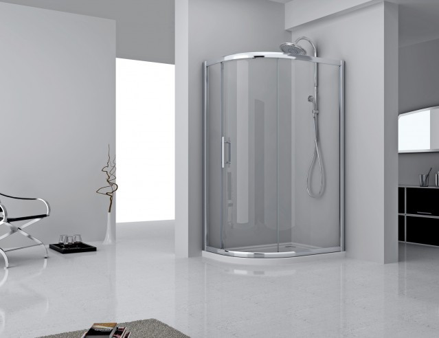 Series 8 Plus One Door Offset Quadrant Shower Enclosure 1000 x 800