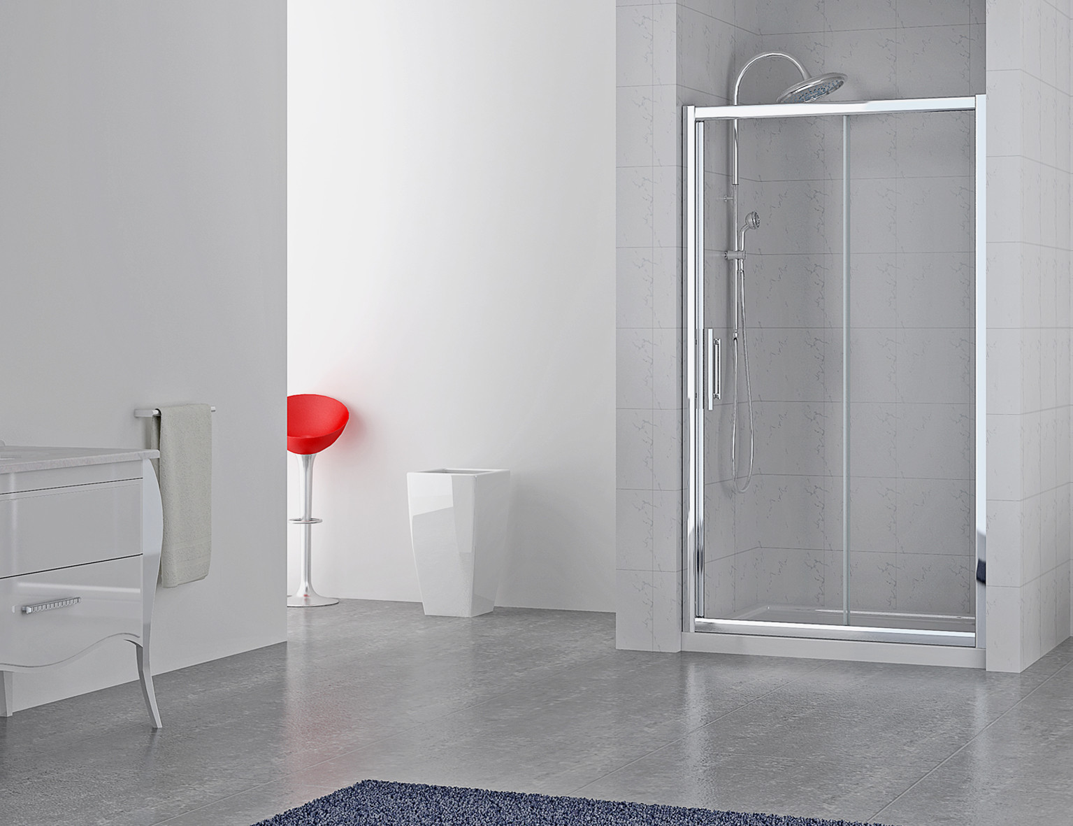 Series 8 Plus Sliding Shower Door 1400