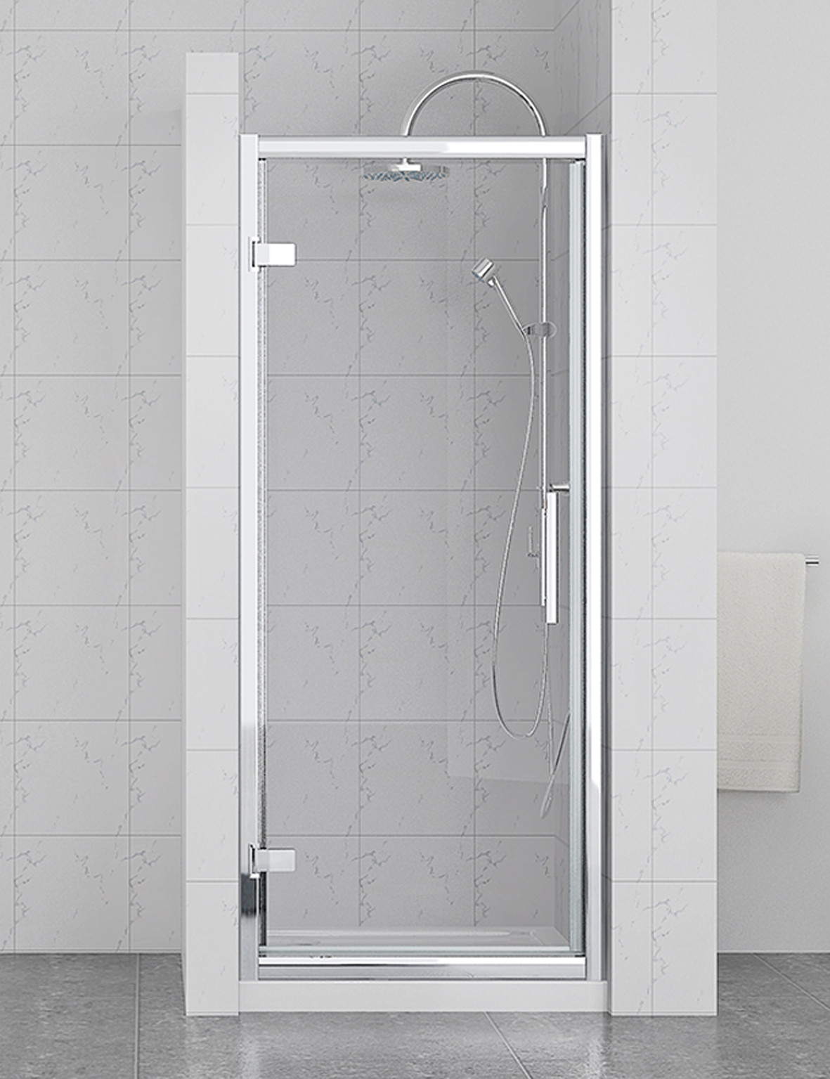 Series 8 Plus Hinged Shower Door 900mm