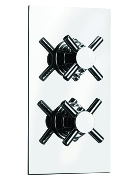 Cross Concealed Twin Thermostatic Shower Valve