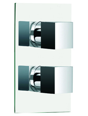 Cubix Concealed Twin Thermostatic Shower Valve