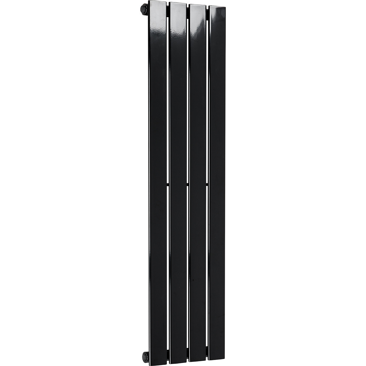 Hudson 1200 x 300 Single Panel Black Radiator