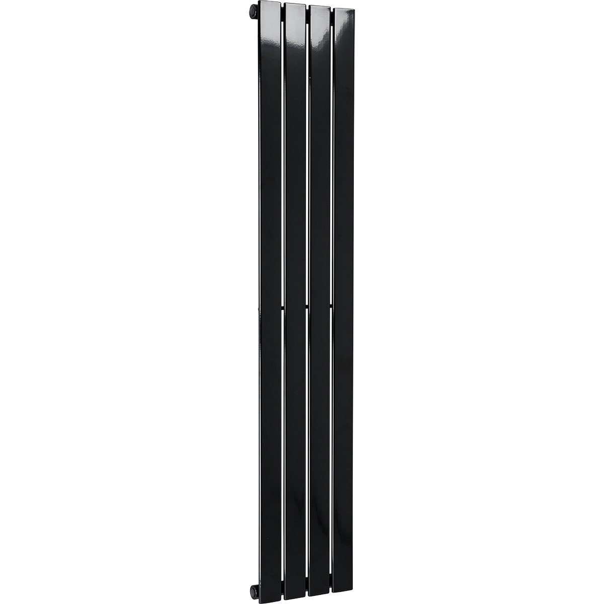 Hudson 1600 x 300 Single Panel Black Radiator