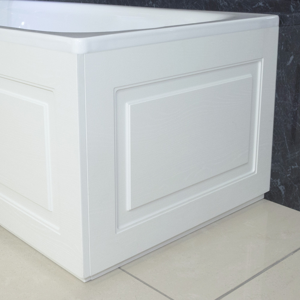 Windsor Traditional White 800 End Bath Panel & Plinth