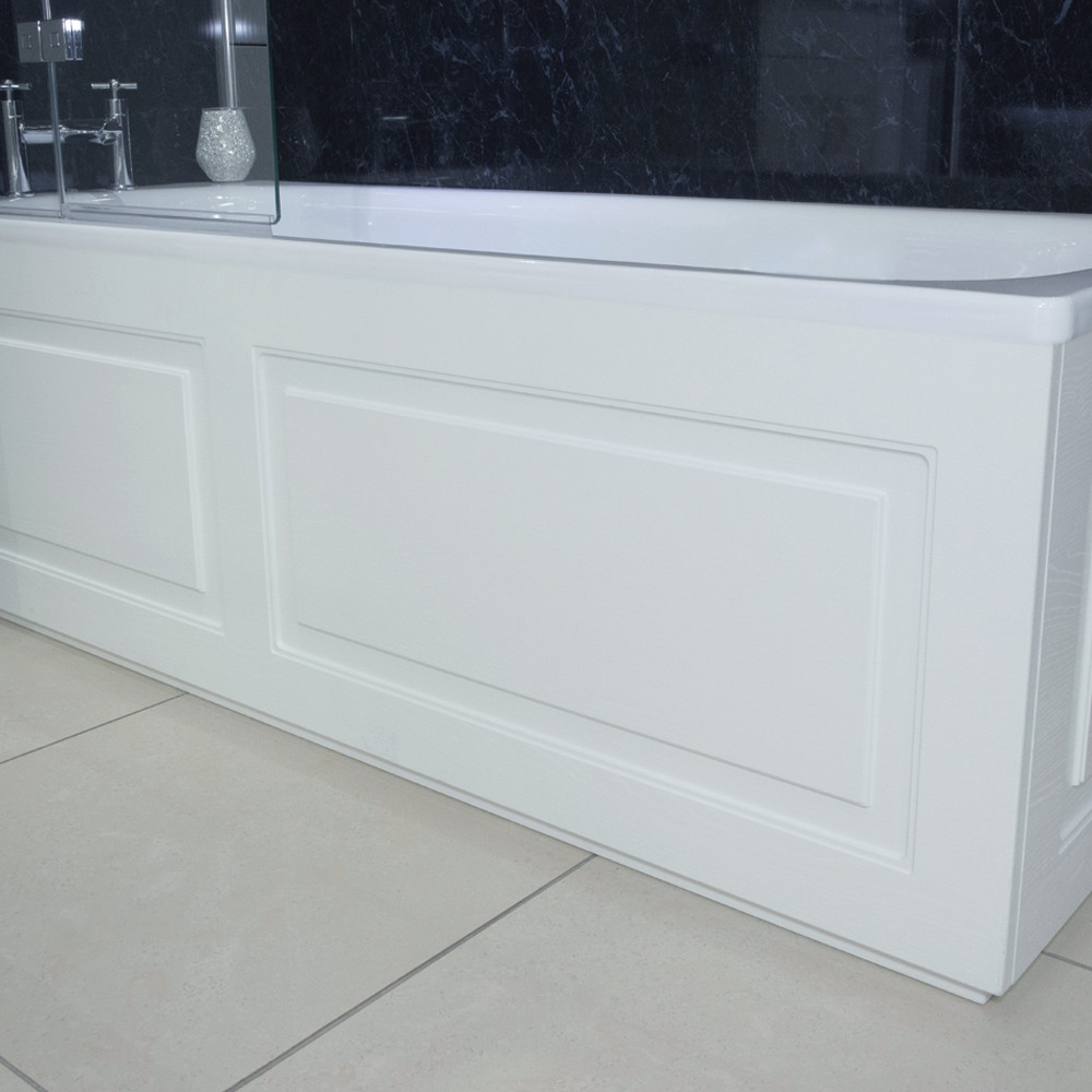 Windsor Traditional White 1800 Front Bath Panel & Plinth